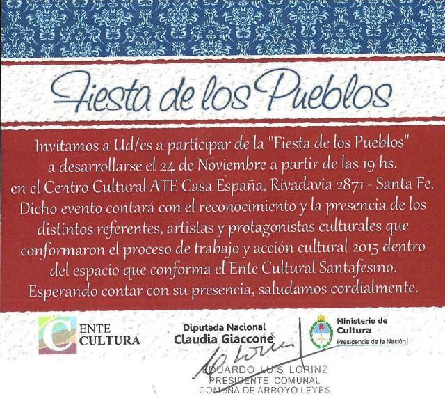 Ente Cultura - Fiesta de los Pueblos 2015